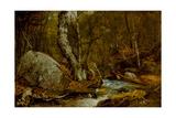 Woodland Interior, C.1850-55 Giclee Print by John Frederick Kensett