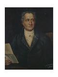 Portrait of German Writer Johann Wolfgang Von Goethe, Painted by Bayer, Late 19th Century Giclee Print by Joseph Carl Stieler