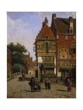 A Dutch Street Scene Giclee Print by Willem Koekkoek