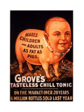 Advertisement for 'Grove's Tasteless Chill Tonic', 1890s Giclée-tryk