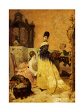 The New Dress Giclee Print by Alfred Emile Léopold Stevens