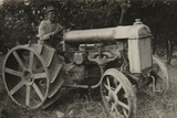 First Tractor Photographic Print by  Russian Photographer