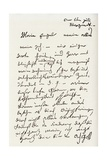 Letter from Beethoven to 'The Immortal Beloved' Giclee Print by Ludwig Van Beethoven