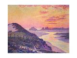 Sunset at Ambleteuse, Pas-De-Calais, 1899 Gicléetryck av Théo van Rysselberghe