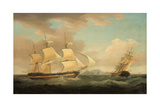 Shipping Scene Giclee Print by Thomas Whitcombe