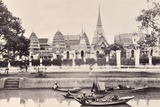 View of a Canal in Bangkok, C.1890 Reproduction photographique par Robert Lenz