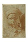 Portrait of a Youth, Bust-Length, Wearing a Round Cap Giclée-tryk af Annibale Carracci