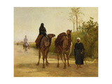 The Travellers, 1874 Giclee Print by Heywood Hardy