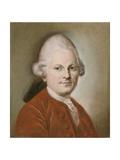 Portrait of Gotthold Ephraim Lessing, after 1770 Giclée-tryk af Anton Graff
