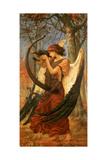 Titania's Awakening, 1896 Giclée-tryk af Charles Sims