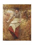 An Autumn Morning Giclee Print by Henry Herbert La Thangue