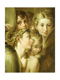 Five Angels Giclee Print by  Parmigianino