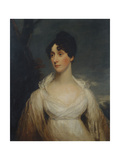 Portrait of a Lady Seated, Half Length, Wearing a White Dress Giclee Print by Sir William Beechey