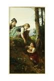 Children Picking Berries Giclee Print by Felix Schlesinger