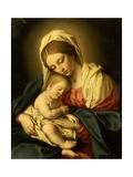 The Madonna and Child Premium Giclée-tryk af Il Sassoferrato