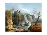 The Falls of Tivoli, 1768 Reproduction procédé giclée par Hubert Robert