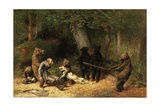 Making Game of the Hunter, 1880 Giclée-tryk af William Holbrook Beard