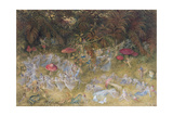 Fairy Rings and Toadstools, 1875 Lámina giclée por Richard Doyle