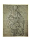 Madonna y el niño Lámina giclée por  Domenichino
