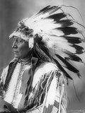 Chief Hollow Horn Bear, Sioux, 1898 Lámina fotográfica por Frank A. Rinehart