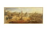 Piazza Del Popolo, Rome Giclée-Druck von Gaspar van Wittel