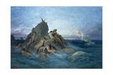 Les Oceanides Giclee-trykk av Gustave Doré
