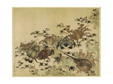 Crustaceans, Edo Period C.1825 Giclée-Druck von Katsushika Hokusai
