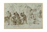 The Forge of Vulcan Giclée-tryk af Pier Francesco Mola