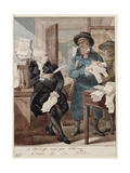 A Bailiff and And Attorney - a Match for the Devil Giclee Print by Robert Dighton