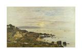 Cliffs at Benerville, Sunset, 1897 Reproduction procédé giclée par Eugene Louis Boudin