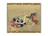 The Lute and White Snake of Benten, Edo Period, 1847 Giclée-Druck von Katsushika Hokusai