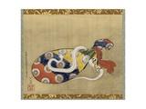 The Lute and White Snake of Benten, Edo Period, 1847 Impressão giclée por Katsushika Hokusai