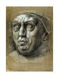 Head of Pope Leo X Giclee Print by Giulio Romano