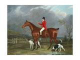 A Huntsman and Hounds, 1824 Lámina giclée por David of York Dalby