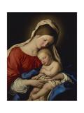 The Madonna with Sleeping Christ Child Premium Giclée-tryk af Il Sassoferrato