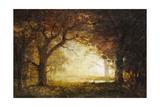 Forest Sunrise Giclée-tryk af Albert Bierstadt