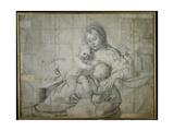 Holy Family at Rest with the Infant St. John the Baptist Lámina giclée por  Domenichino