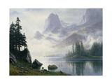 Mountain Out of the Mist Reproduction procédé giclée par Albert Bierstadt