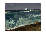 Seascape Giclée-tryk af Albert Bierstadt