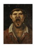 A Peasant Man Shouting Giclée-tryk af Annibale Carracci