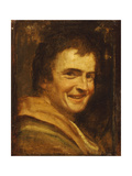 A Smiling Youth Giclée-tryk af Annibale Carracci