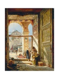 The Gate of the Great Umayyad Mosque, Damascus, 1890 Reproduction procédé giclée par Gustave Bauernfeind