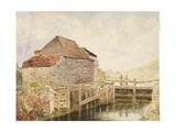 Old Mill and Lock Gates (St. Catherine's), C.1820-40 Giclee Print by William Henry Hunt