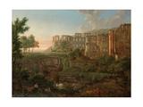 Capriccio View of the Ruins of Heidelberg Castle Impressão giclée por Johann Martin Von Rohden
