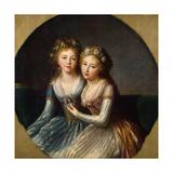 Portrait of Grand Duchesses Alexandra Pavlovna and Elena Pavlovna of Russia, 1796 Giclée-Druck von Elisabeth Louise Vigee-LeBrun
