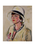 The White Hat Giclee Print by George Leslie Hunter