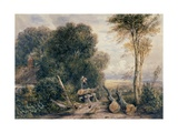 The Saw Pit Giclee Print by David Cox