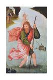 Saint Christopher Giclée-tryk af Hieronymous Bosch