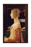 Portrait of Giovanna Tornabuoni, C.1899 Giclée-tryk af Domenico Ghirlandaio