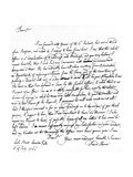 Letter Written by David Hume to Richard Davenport Referring to the Great Difficulties of His… Giclee Print